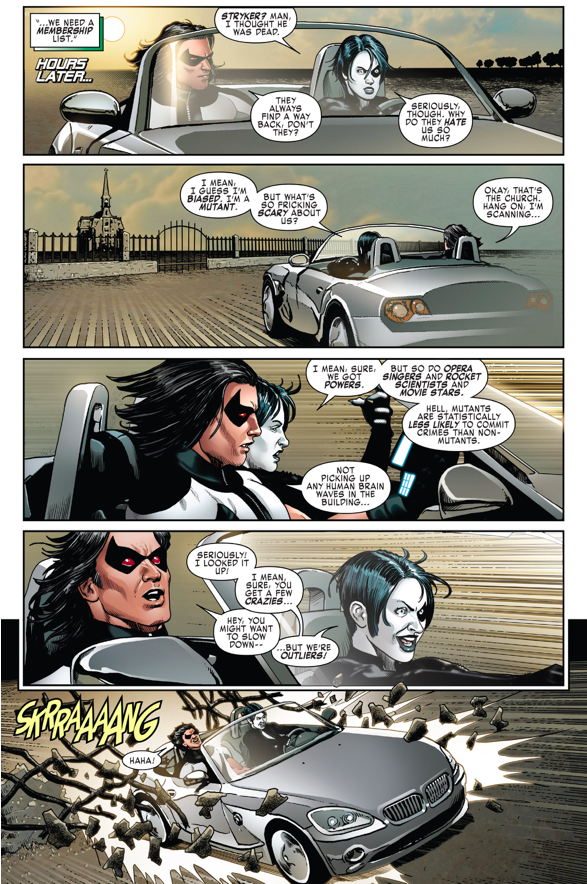 Domino And Warpath VS Adamantium Cyborgs