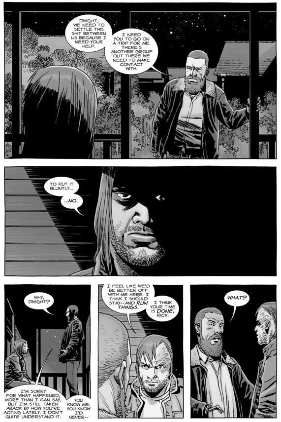 Dwight Threatens Rick Grimes (The Walking Dead)