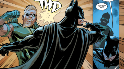 Green Arrow Punches Batman (Injustice II)