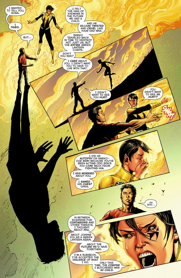 Soranik Natu Brands Kyle Rayner With Sinestro Corps Symbol