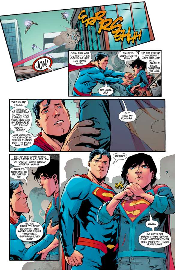 Superman And Superboy VS Dreadnought And Psi-Phon
