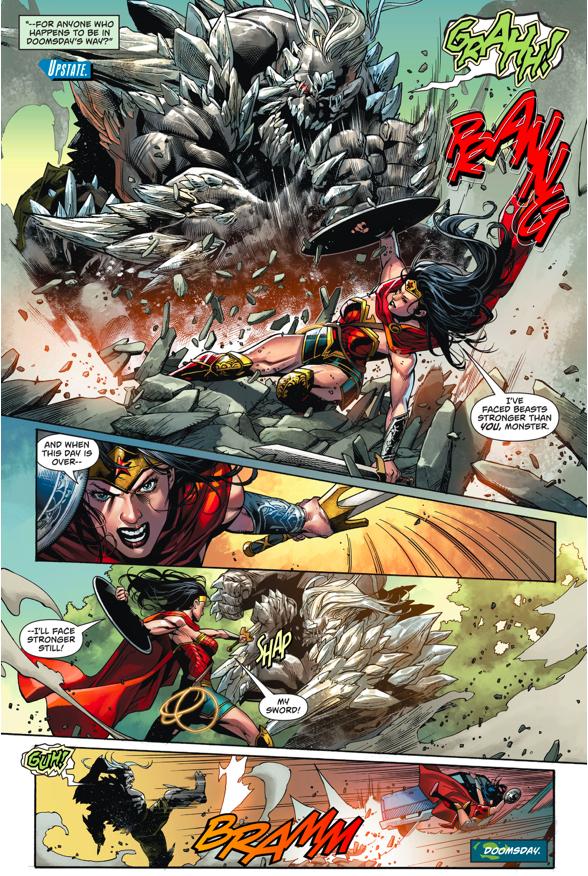 Superman And Wonder Woman VS Doomsday (Rebirth)
