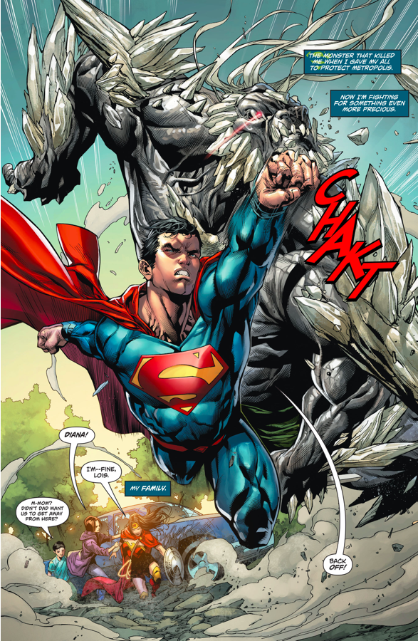 Superman And Wonder Woman Vs Doomsday Rebirth Comicnewbies