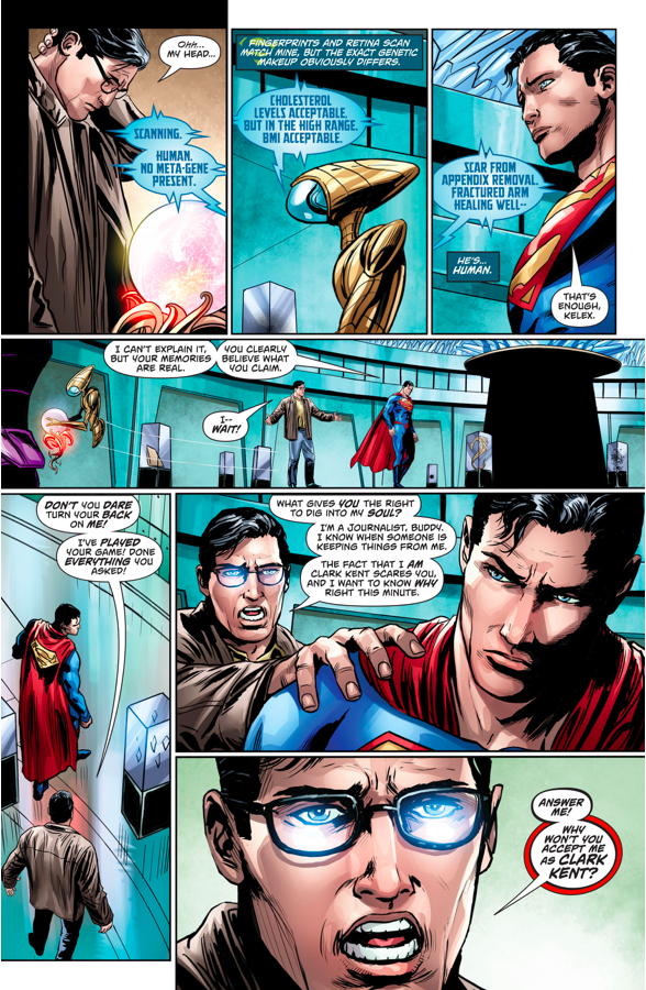 Superman Mind Probes Clark Kent (Rebirth)