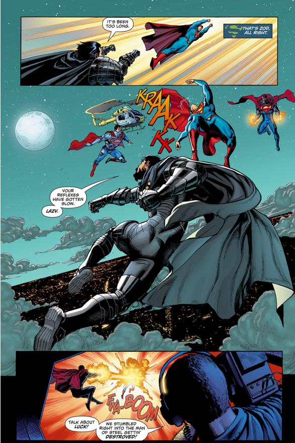 Superman VS General Zod, Cyborg-Superman And The Eradicator