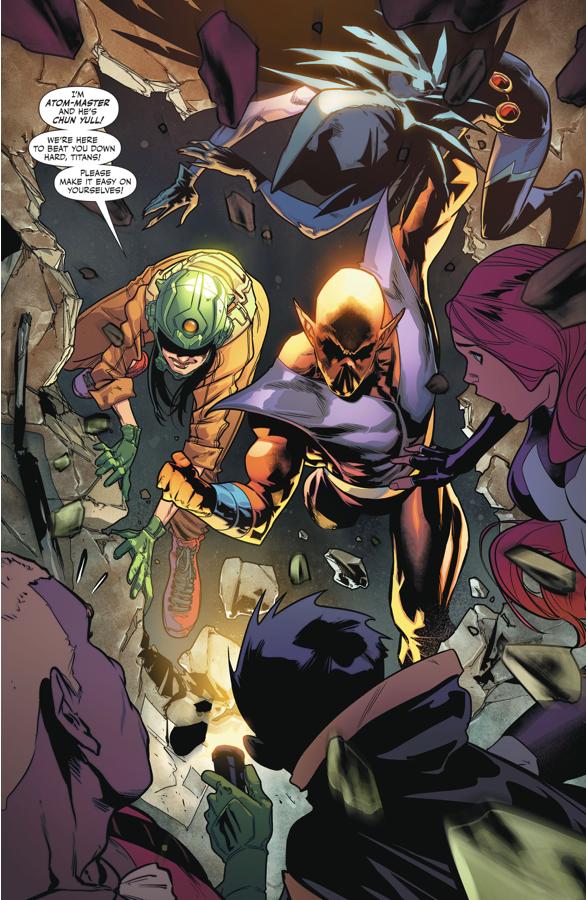 Teen Titans VS Atom-Master And Chun Yull