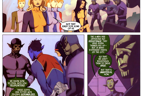 The X-Men Surrenders To The Skrulls