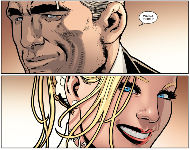 Wildcat Walks Black Canary Down The Aisle (Injustice II)