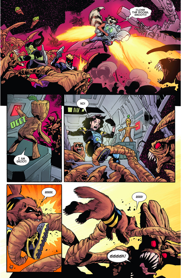 Wolverine And Guardians Of The Galaxy VS The Brood