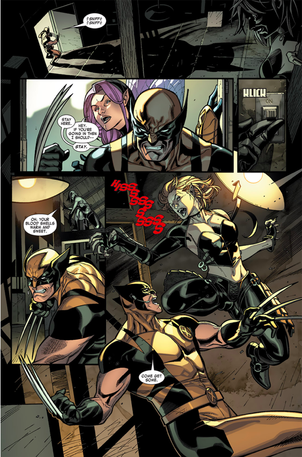 Wolverine, Angel And Pixie VS Vampires