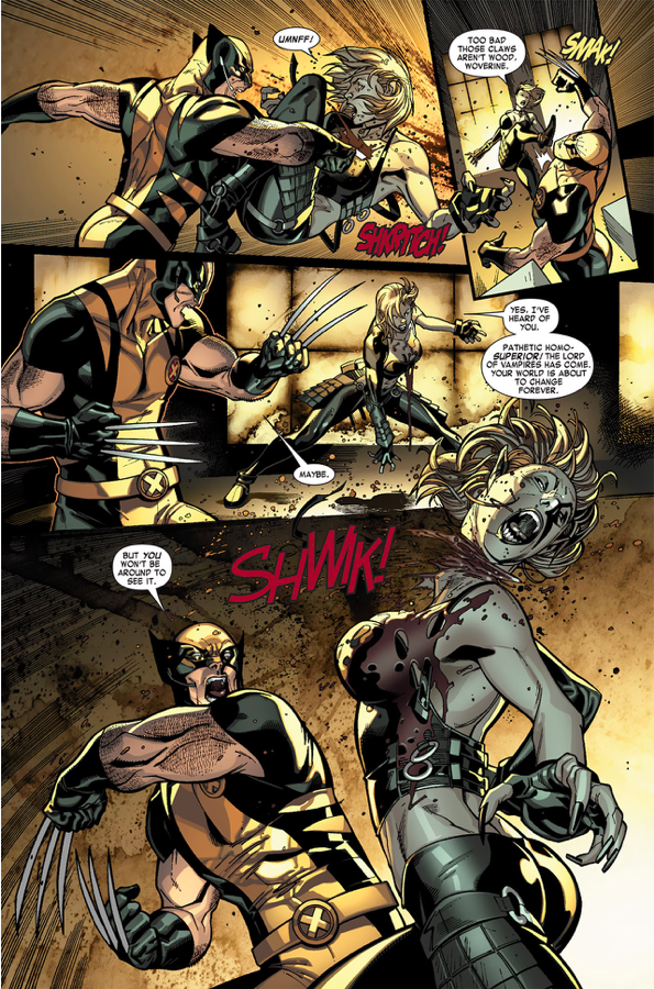 Wolverine, Angel And Pixie VS Vampires | Comicnewbies