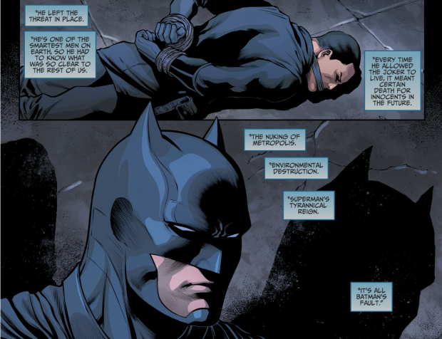 Animal Man Describes Batman's Problem (Injustice II)