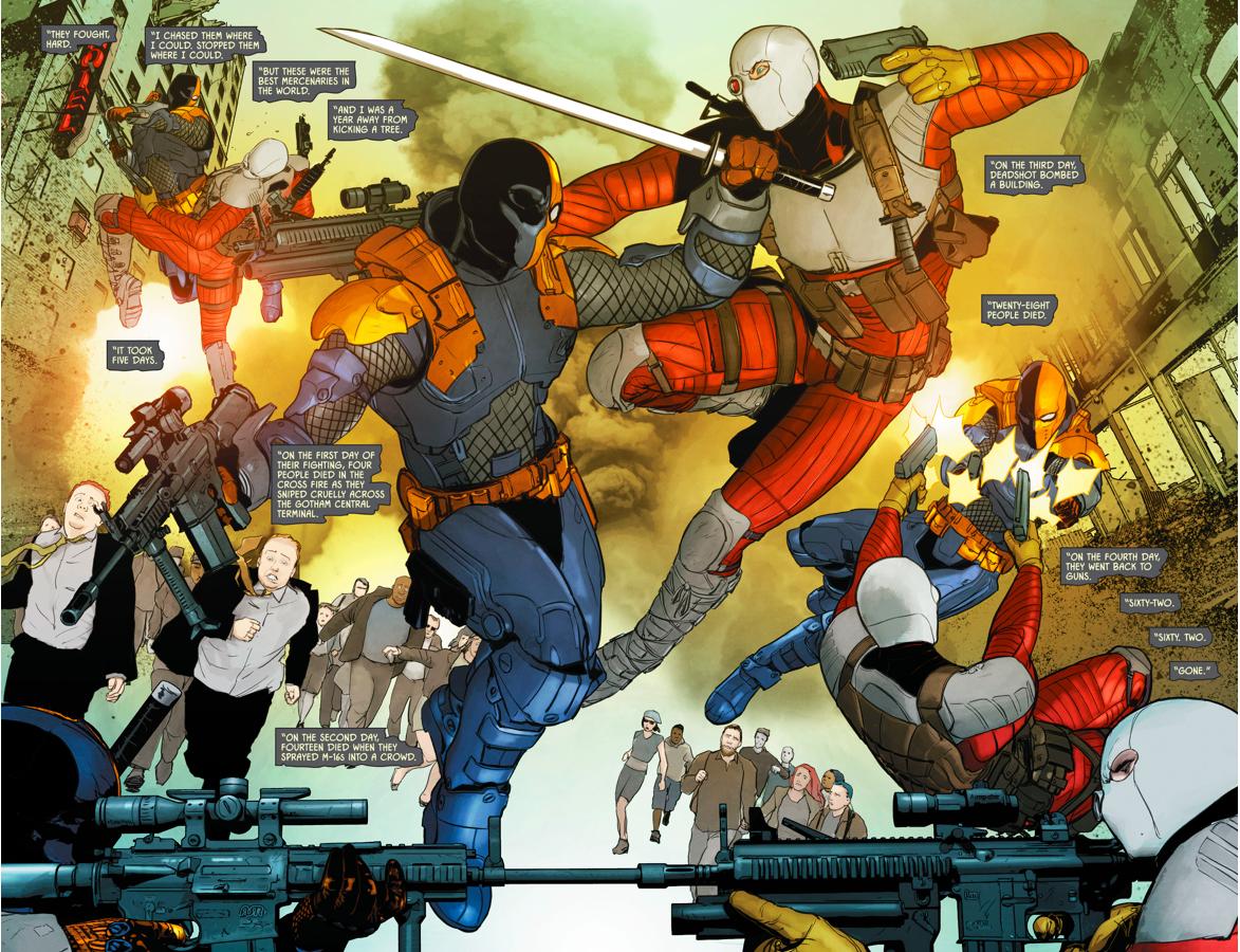 Deathstroke VS Deadshot (Rebirth) | Comicnewbies