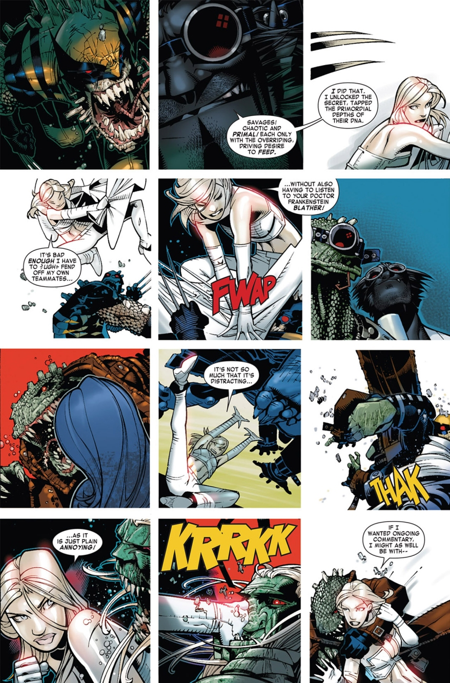 Emma Frost VS Lizard X-Men