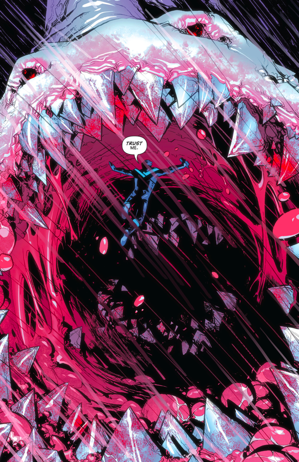 Nightwing Defeats A Giant Monster (Rebirth)