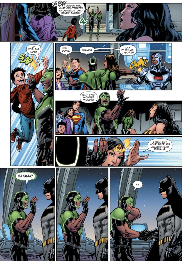 Simon Baz Tries To High Five Batman