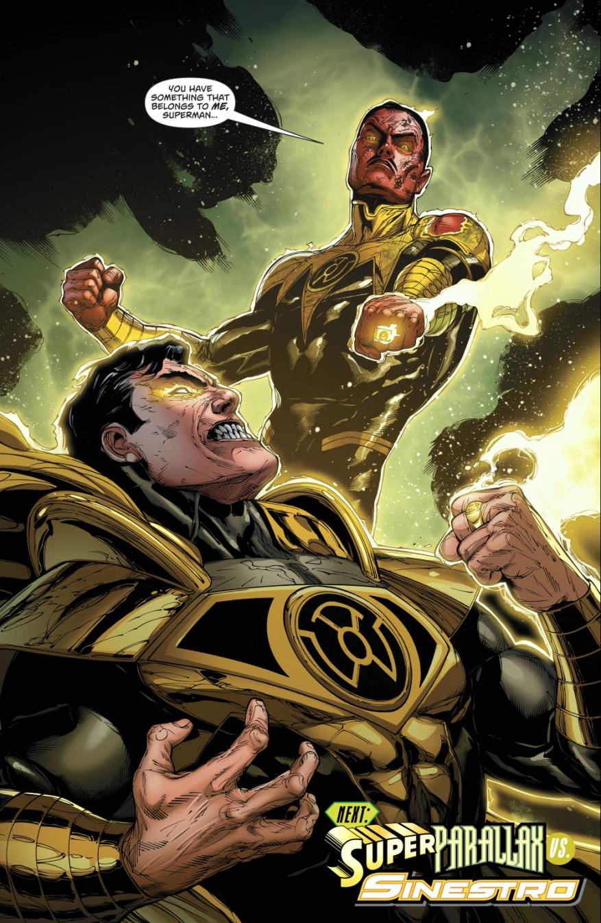 Sinestro and Parallax-Superman