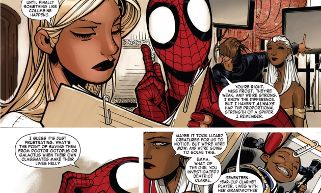 Spider-Man And Emma Frost Talks About Bullying