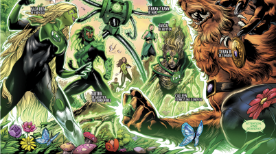 The 1st 7 Green Lanterns Meet Each Other