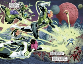 The Green Lantern Corps Defeated Shirak