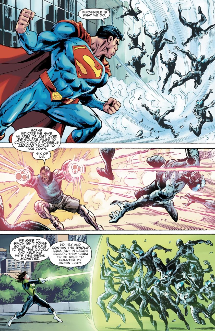 The Justice League VS Shirak