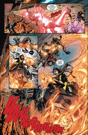 The X-Men And Ghostrider VS The Atahsaia