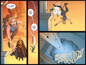 Black Adam Trains Supergirl To Fly (Injustice II)
