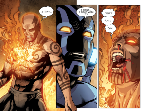 Blue Beetle Kills El Diablo (Injustice II)