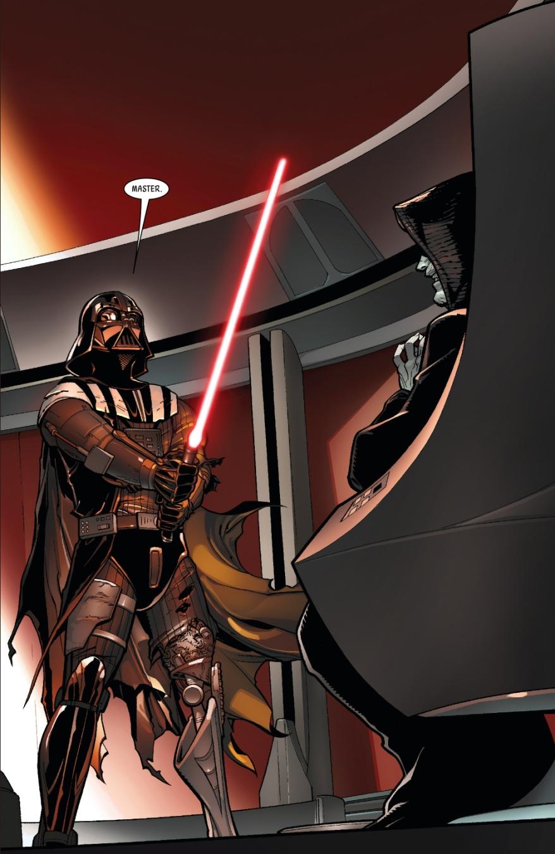 Darth Vader Turns A Lightsaber Crystal Red