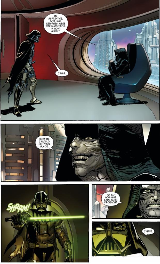 Darth Vader VS Emperor Palpatine (Darth Vader Vol. 2 #5)