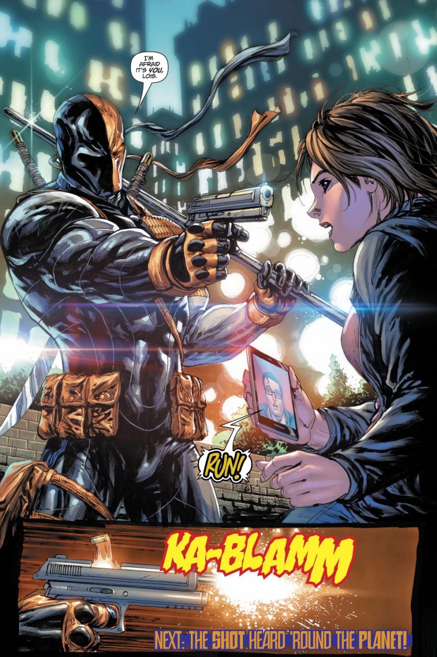 Deathstroke Shoots Lois Lane