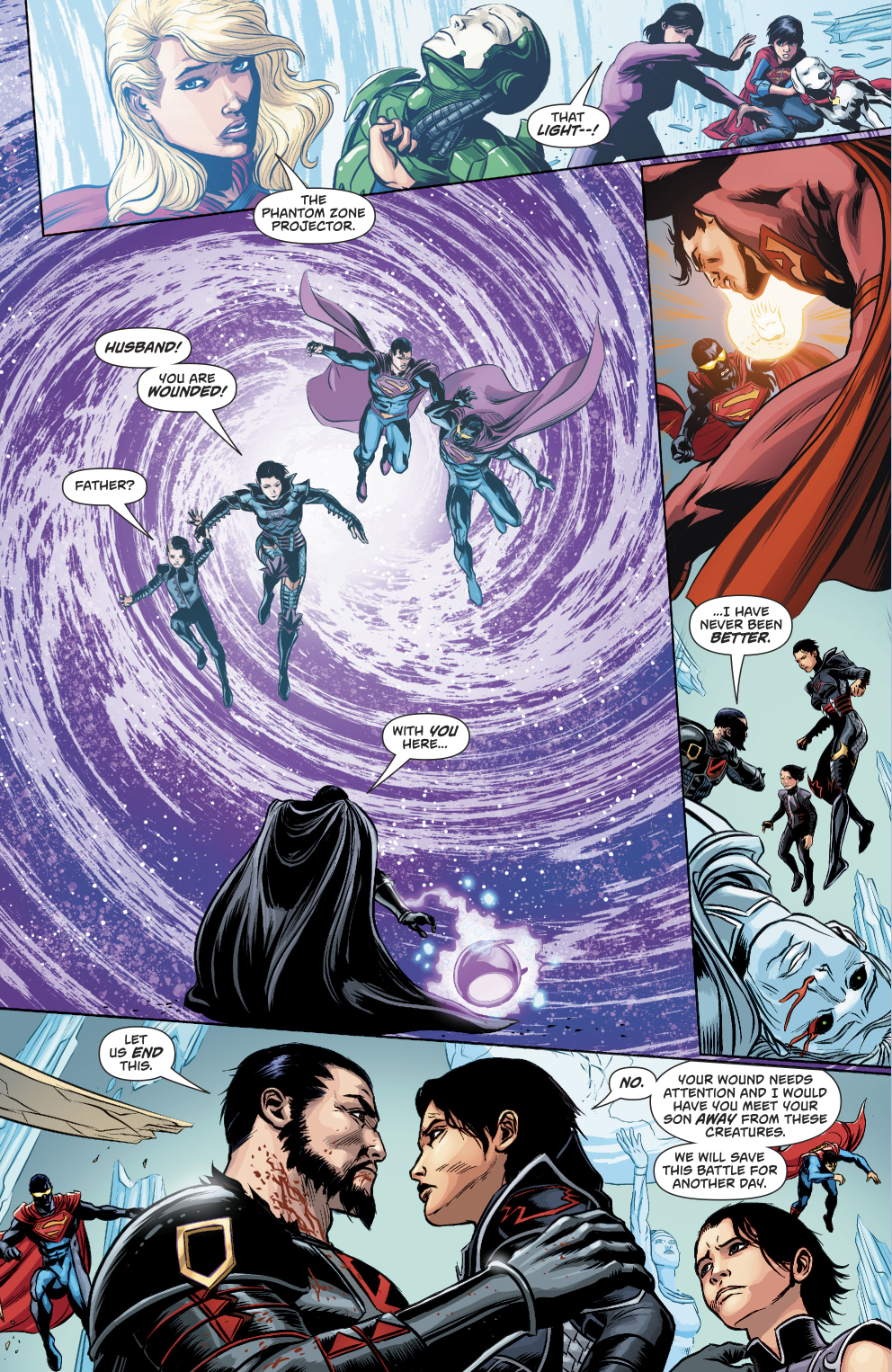 general zod�s family escapes the phantom zone comicnewbies