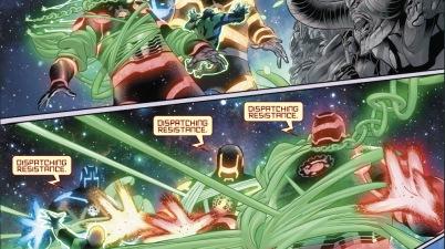Green Lantern Corps VS Eschaton Golems
