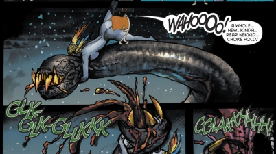 Harley Quinn And Lobo VS A Giant Snake
