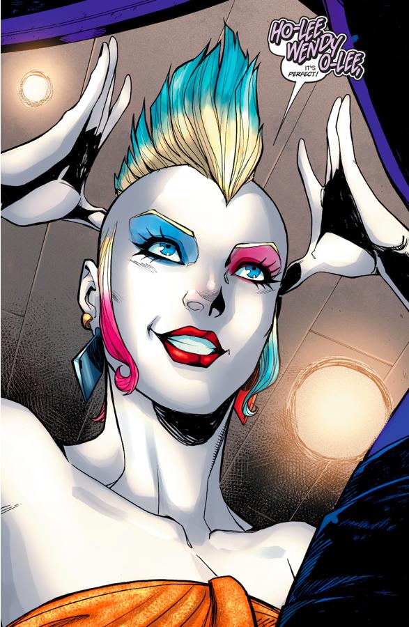 Harley Quinn's Punk Hairdo