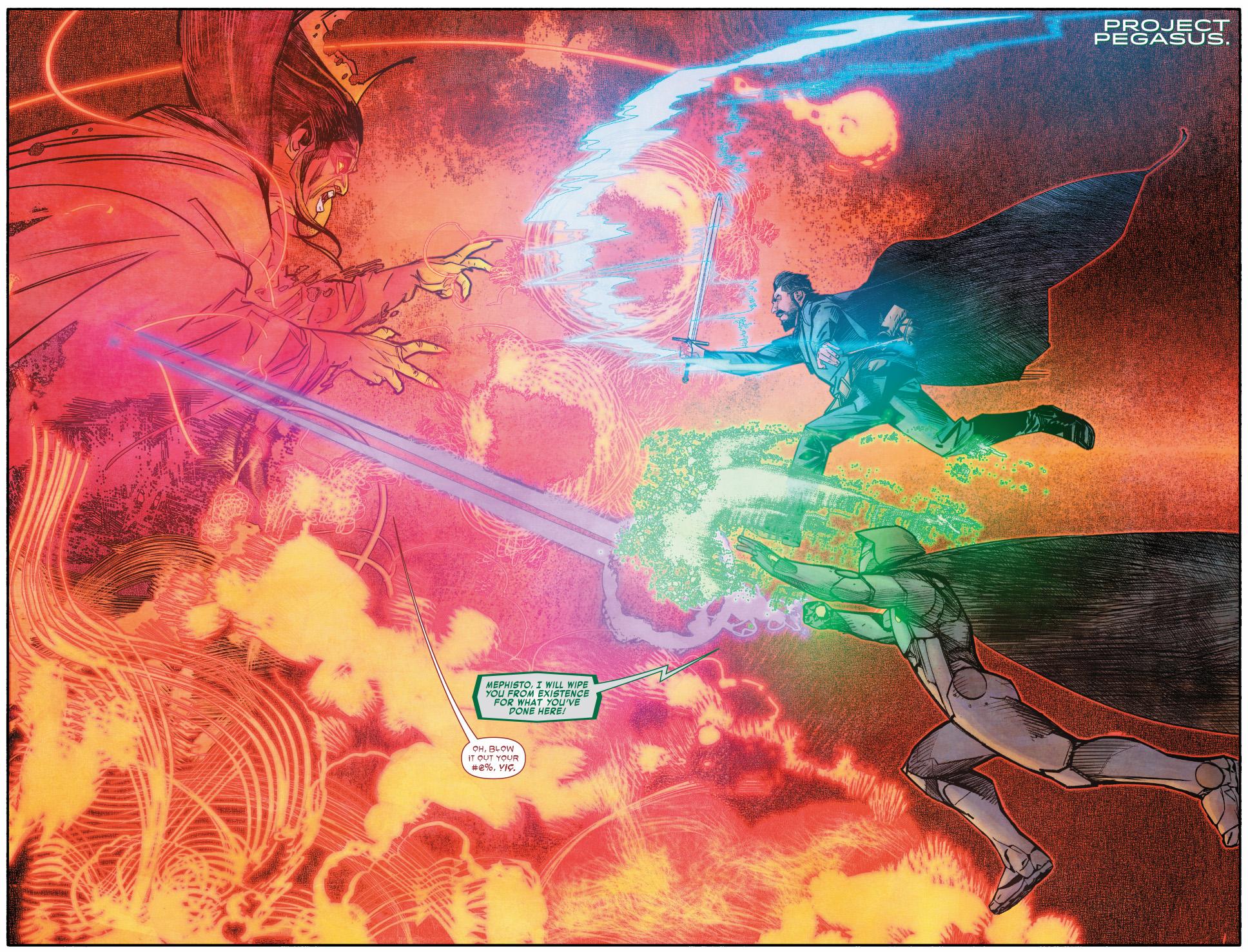 550cfde04c0 Infamous Iron Man And Doctor Strange VS Mephisto | Comicnewbies