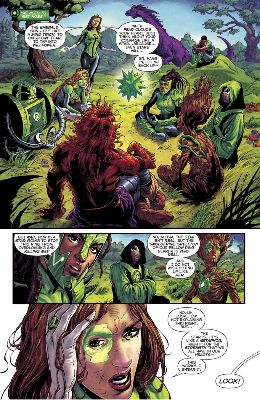 Jessica Cruz Trains The 1st 7 Green Lanterns