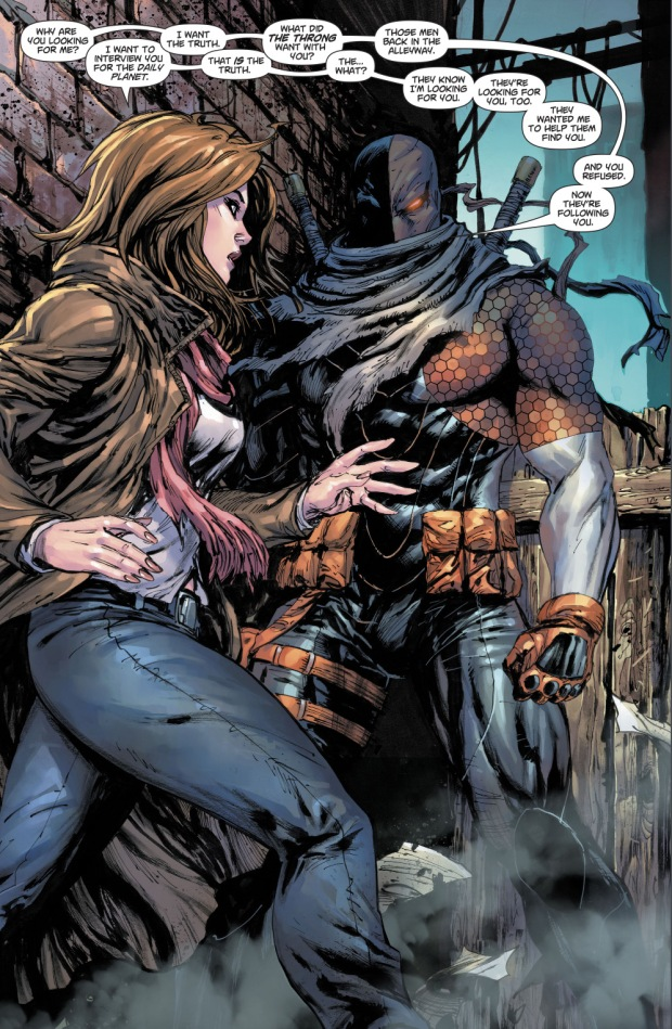 Lois Lane And Deathstroke