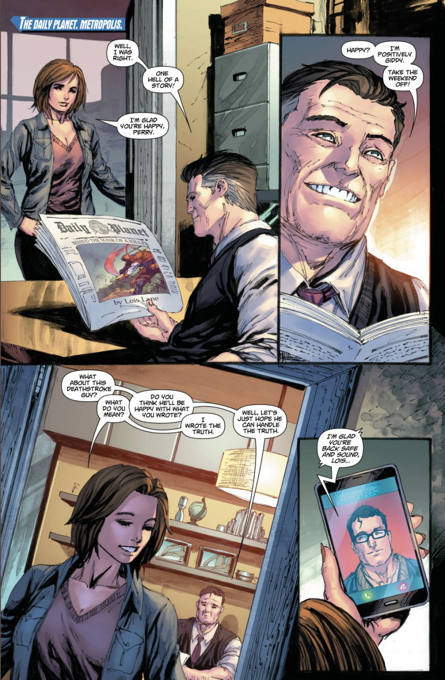 Lois Lane Interviews Deathstroke