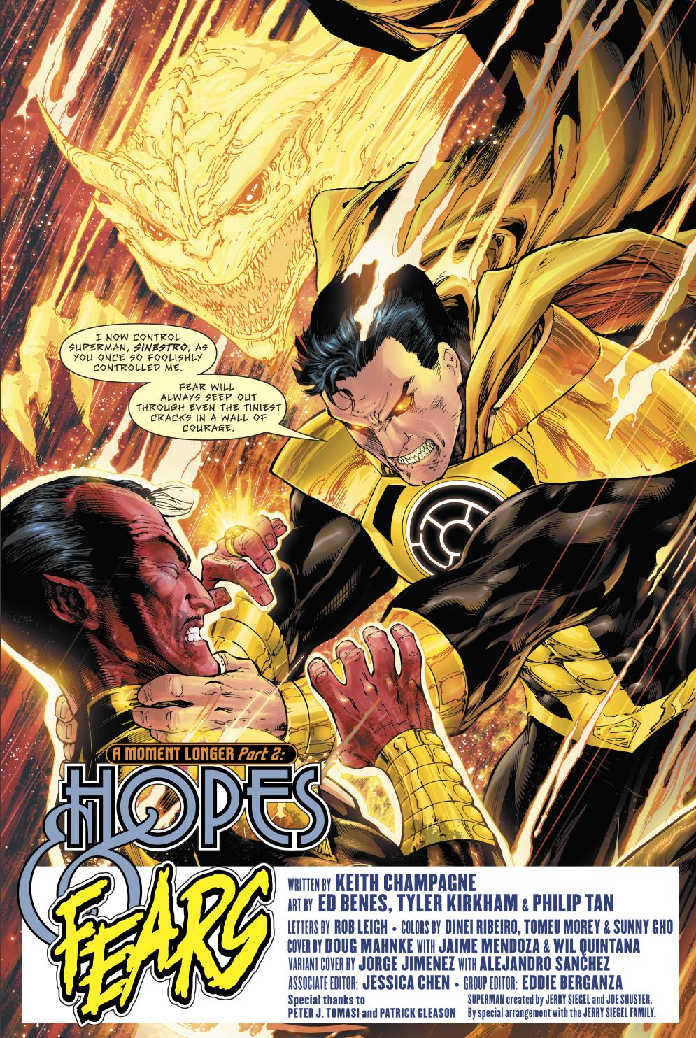 parallax superman vs sinestro comicnewbies