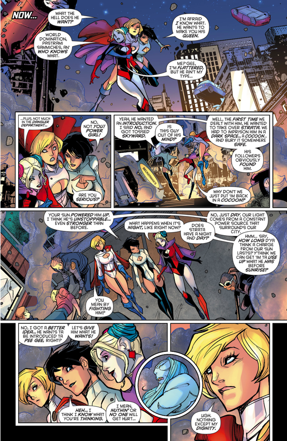 Power Girl Goes On A Date With Zorcrom