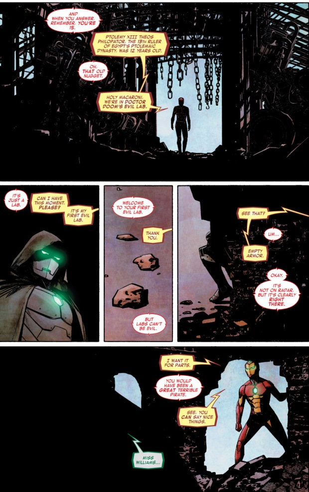 Riri Williams Meets Victor Von Doom
