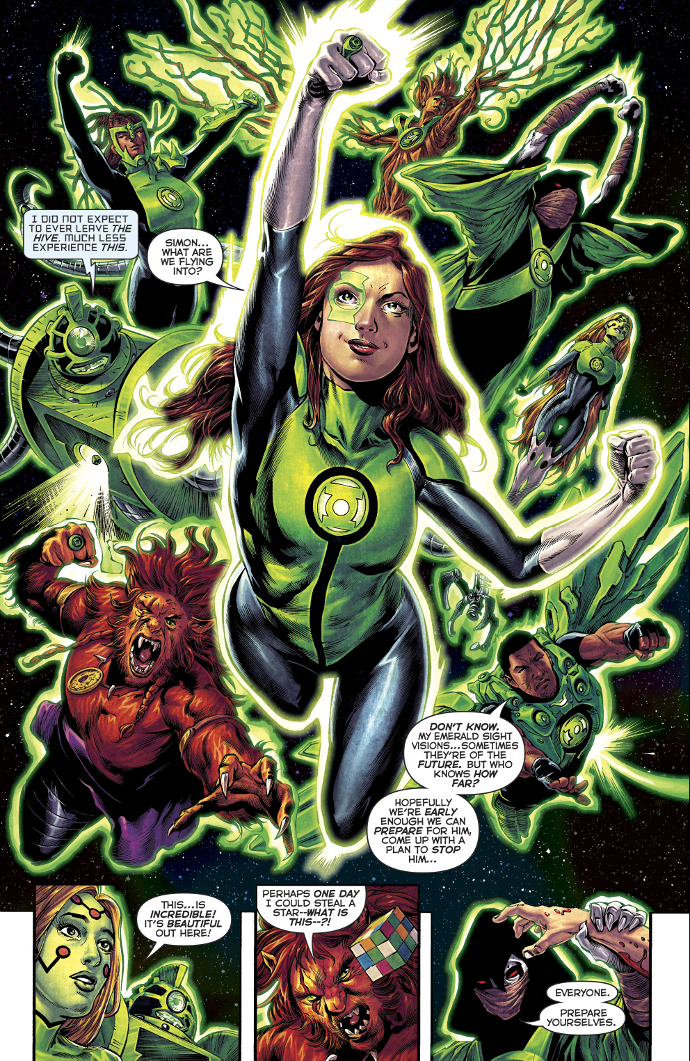 The Green Woman The Empress From The Wildwood Tarot: The 1st 7 Green Lanterns Learn The Green Lantern Oath