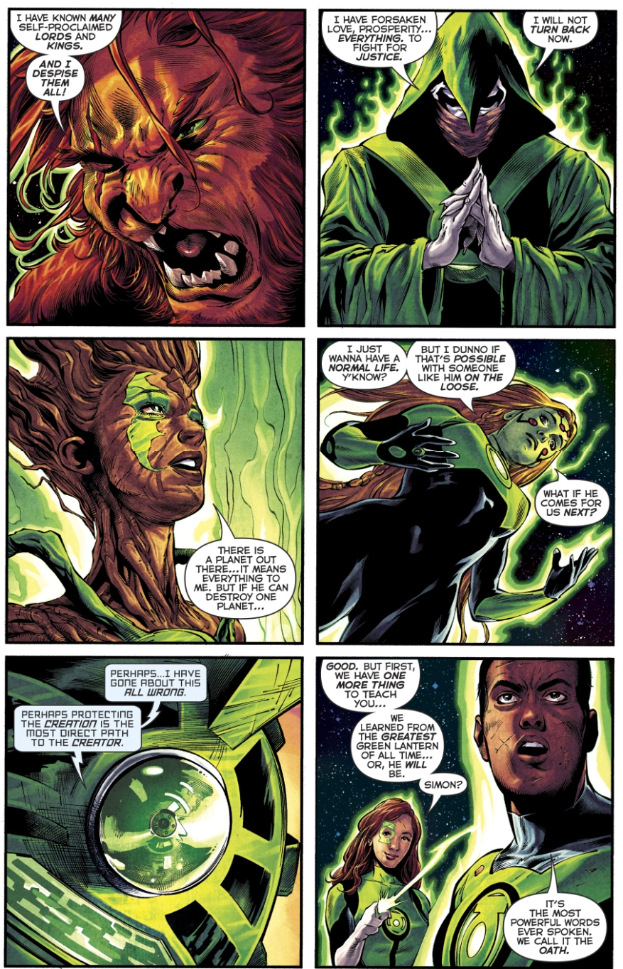 The 1st 7 Green Lanterns Learn The Green Lantern Oath
