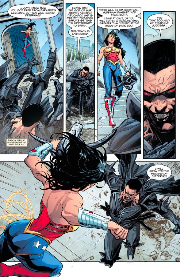 Wonder Woman VS Ares (Injustice Gods Among Us)