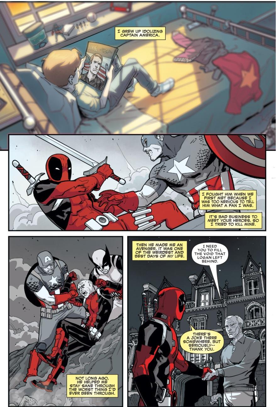 Deadpool Idolizes Captain America