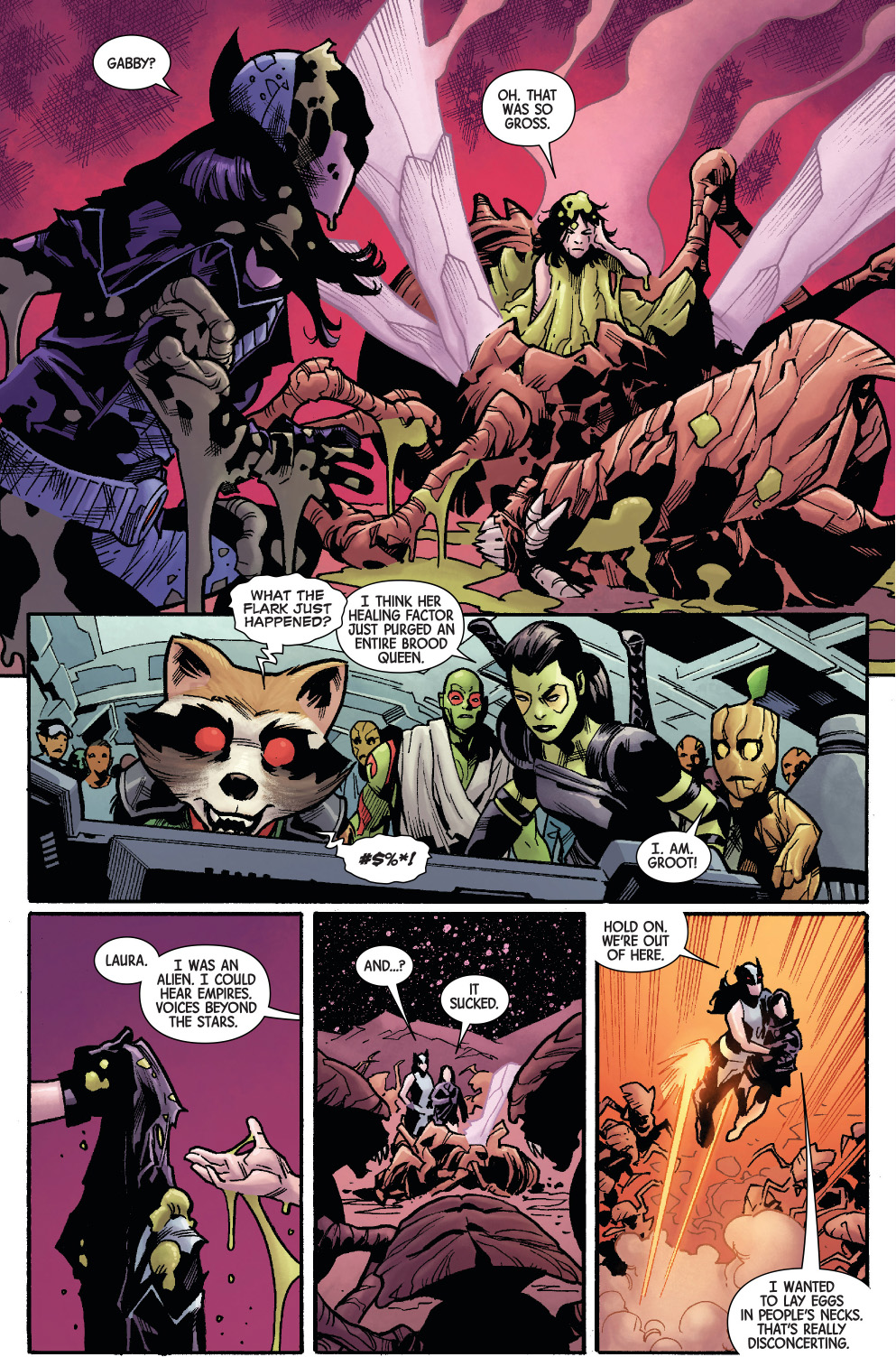 Gabrielle Kinney's Healing Factor Beats A Brood Queen ... Quotes About Being A Queen Tumblr