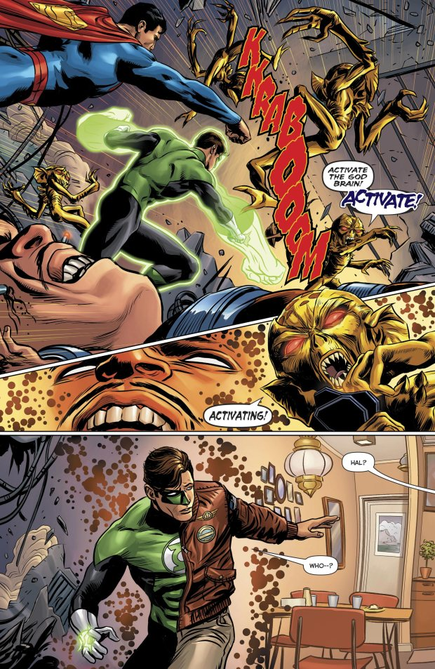 Green Lantern And Superman VS Kroloteans