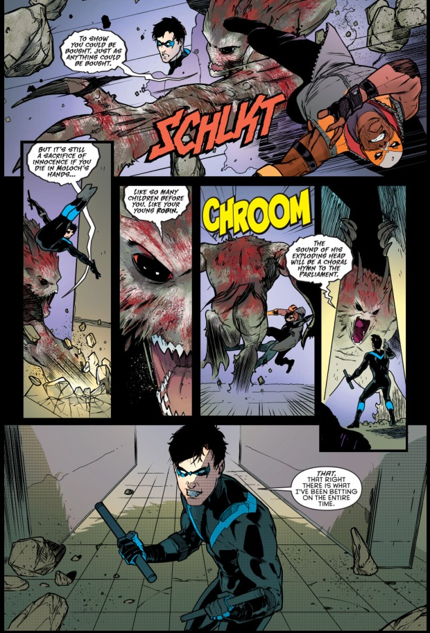 Nightwing And Raptor VS Moloch