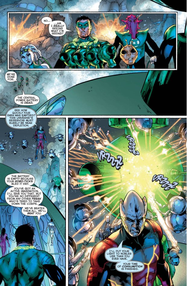 Relic Destroys The Green Lantern Central Power Battery